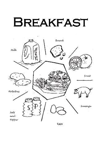 Simply Seven breakfast divider page: